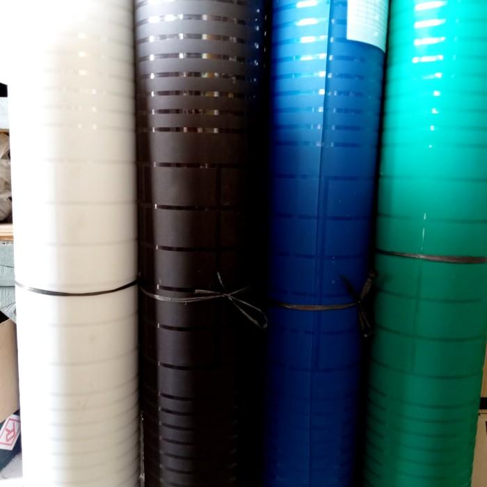 Jual Fiber Viber Penutup Pagar Plastik Motif Minimalis UV Protection - Biru  - Kab. Bekasi - Gemilang Jaya Bangunan | Tokopedia