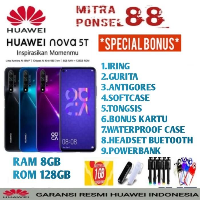 Foto Produk HUAWEI NOVA 5T RAM 8/128 GARANSI RESMI HUAWEI INDONESIA - Biru dari Mitra Ponsel 88