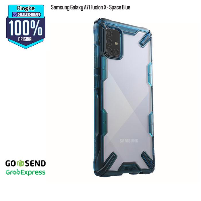 Foto Produk Rearth Ringke Case Samsung Galaxy A51/A71 Fusion X AntiCrack Original - A71 Space Blue dari Official Ringke Partner