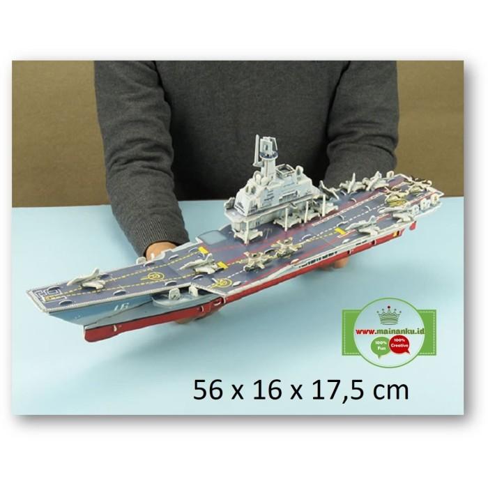 Foto Produk Puzzle 3d BIG SIZE | AIRCRAFT CARRIER VARYAG | Mainan Model Kapal dari Cherish Online