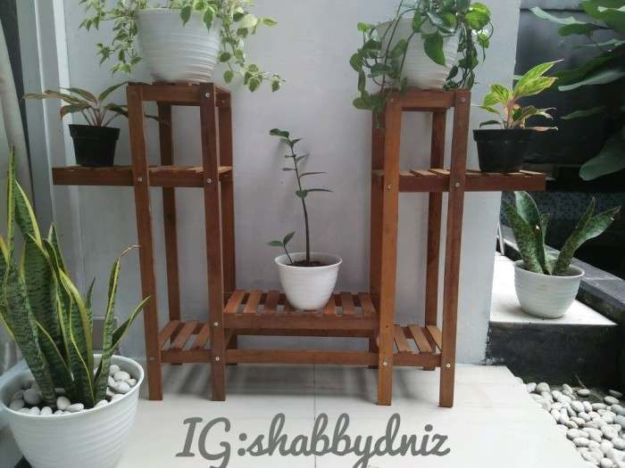 Jual Rak Pot Bunga Kayu Ulin Model Terbaru Kota Bandung Talita Daria Tokopedia