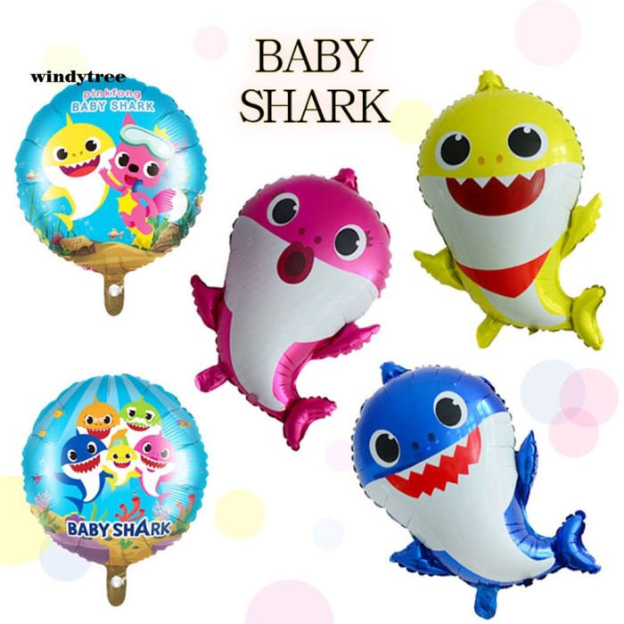 Jual Mantap Wd Aluminium Film Cartoon Shark Balloon Birthday Party Jakarta Barat Star9shop Tokopedia