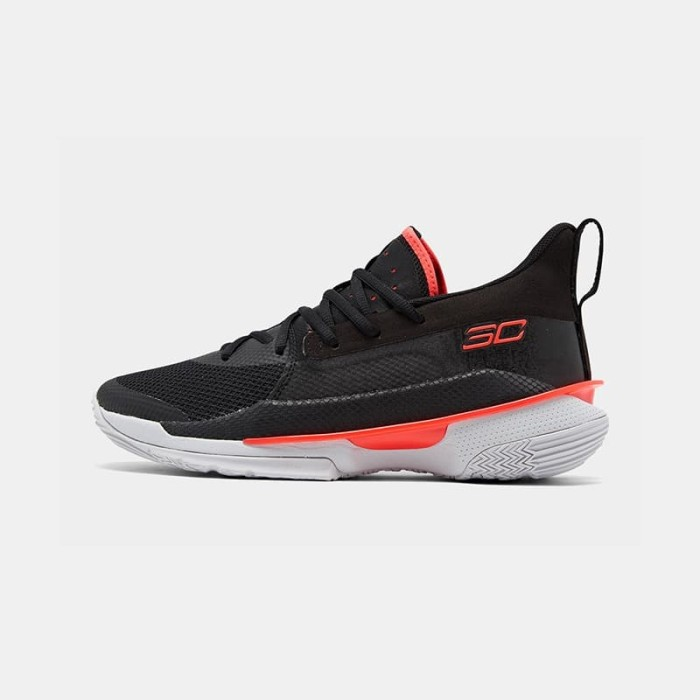 Promo Sepatu Basket Under Armour Curry 7 Pitch Black Kota