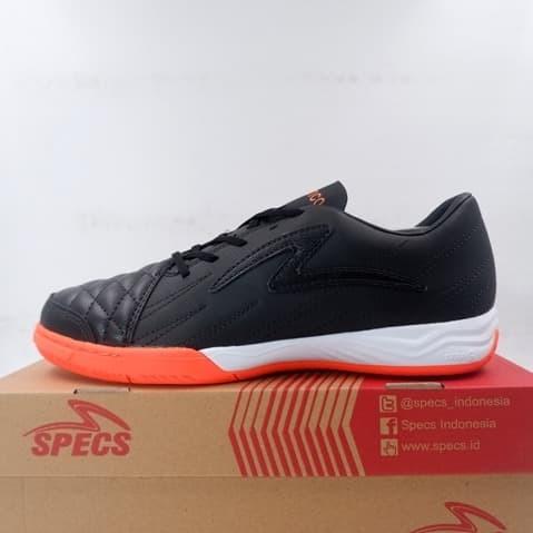 Promo Sepatu Futsal Specs Metasala Fantastico In Black Orange