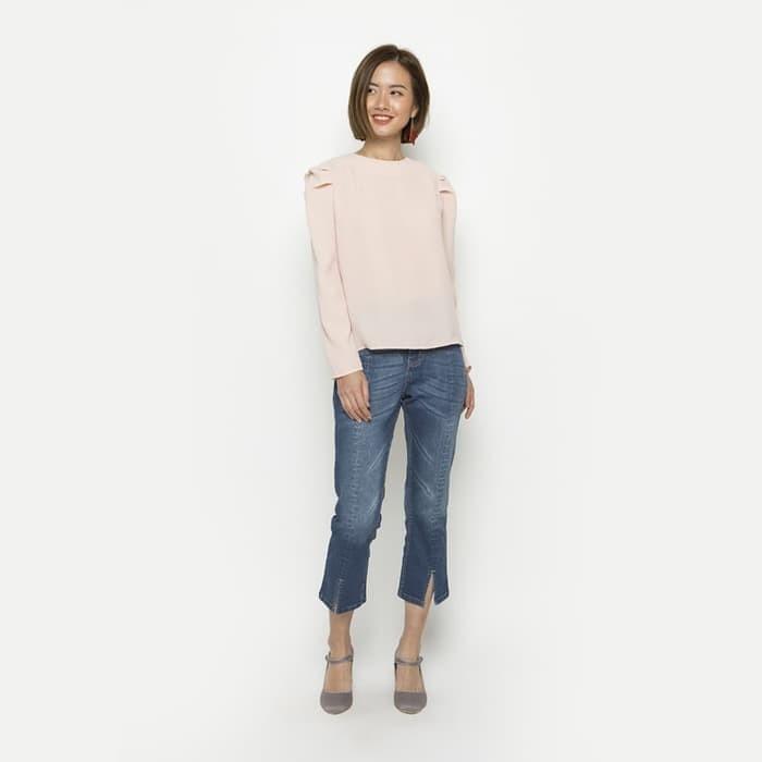 Foto Produk Minimal Long Sleeves With Pleats Bisque - Merah Muda, S dari minimal