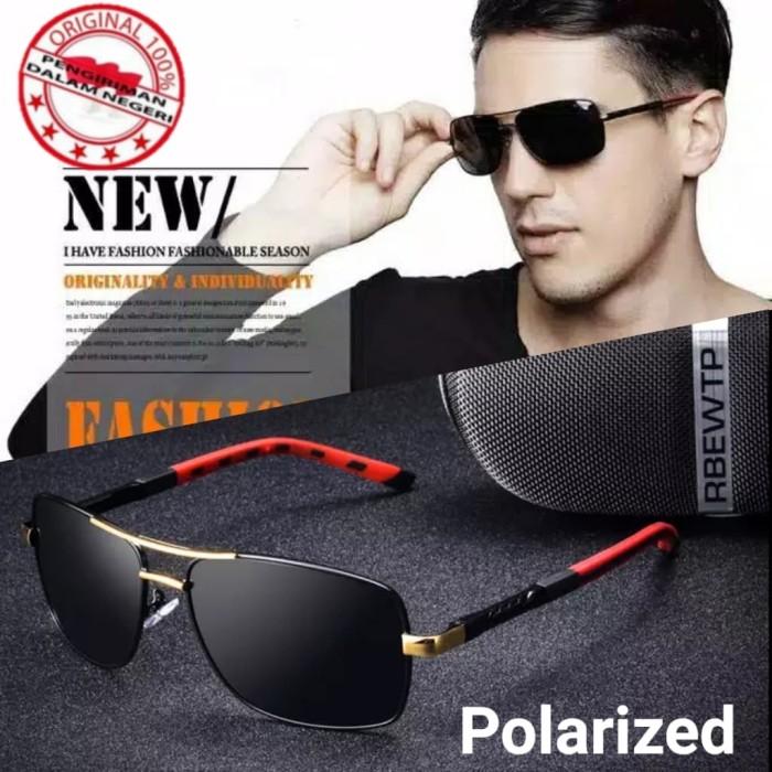 Foto Produk kaca mata pria hitam polarized Original anti silau 8724 terpolaris dari azzam kacamata
