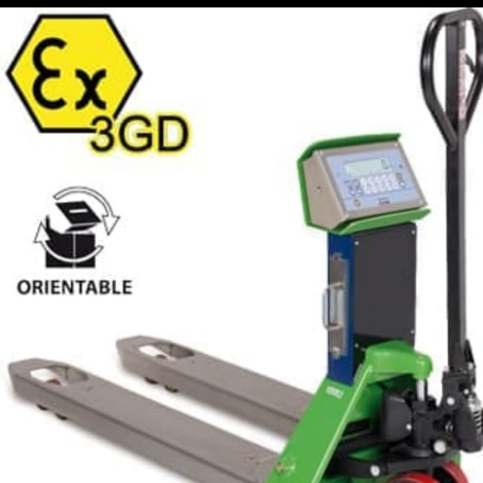 2000kg Load Indicator Weighing System Pallet Truck Hand Pump Push Jack Trolley