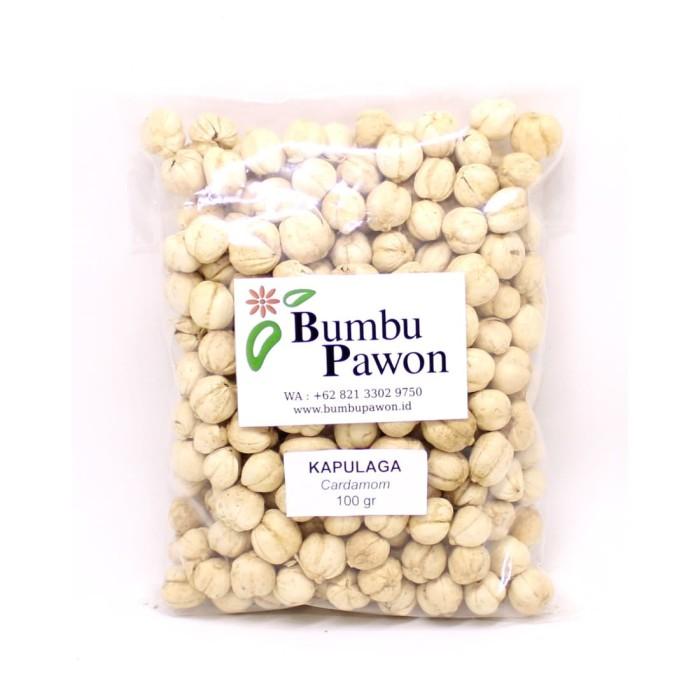 Foto Produk BP014B Biji Kapulaga , Cardamom Seeds 100 gram dari Bumbu Pawon.Id