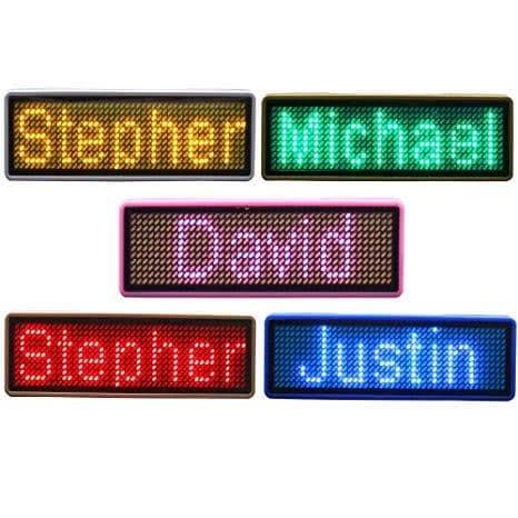 Foto Produk Wireless Bluetooth LED Name Badge dari askiashopp