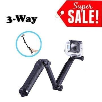 Foto Produk 3 Way Grip Arm Tripod GoPro Hero Xiaomi SJCam Monopod Tongkat Selfie dari Aksesories Kamera