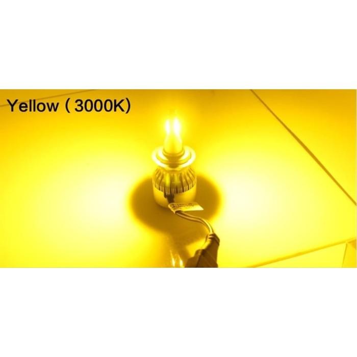 Jual Lampu Led Mobil Headlamp Foglamp H11 H8 H16 C6 Cob 36w 3000k Kuning Jakarta Barat Yankestores Tokopedia