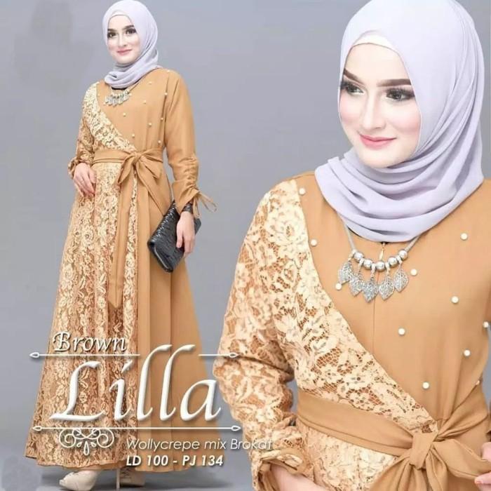 Jual Mm Baju Gamis Wanita Muslim Maxi Dress Gaun Pesta Kondangan Baju Kota Bogor Keinastore0233 Tokopedia