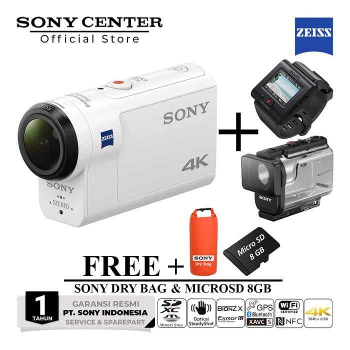 Black Case w// Customizable Foam Interior for Sony FDR-X3000R Action Camera