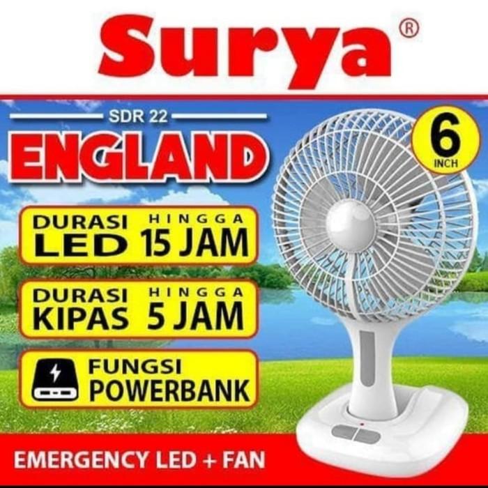 Jual Kipas Angin Portable Lampu Emergency 6inch Charge