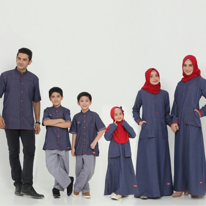 Jual Baju Muslim Sarimbit Keluarga Nibras Family 65 Navy Stelan Couple 2020 Kota Tangerang Selatan Melangitstore Tokopedia