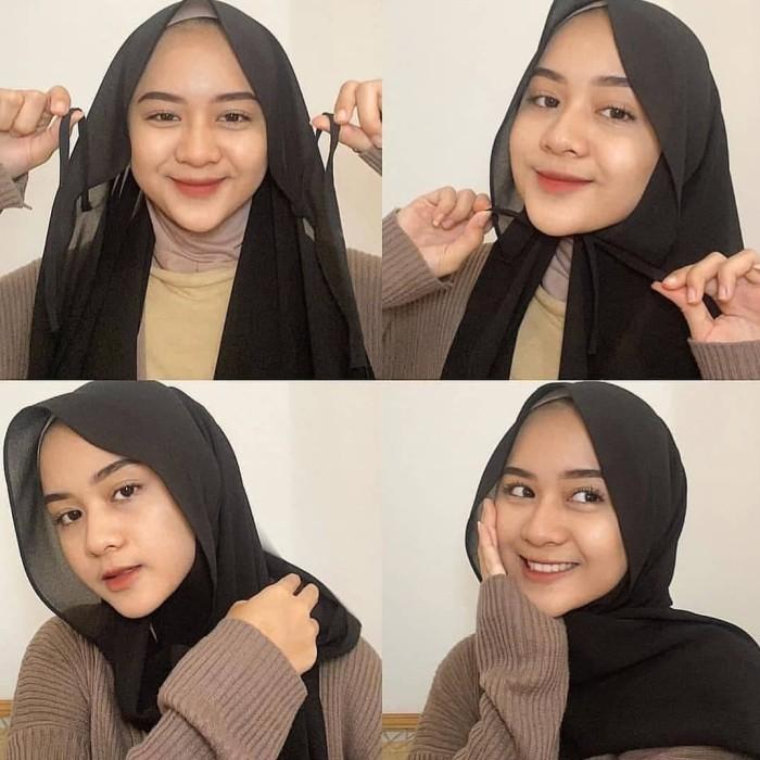 Jual Pashmina Tali Hitam Jakarta Timur Roufafashion Tokopedia