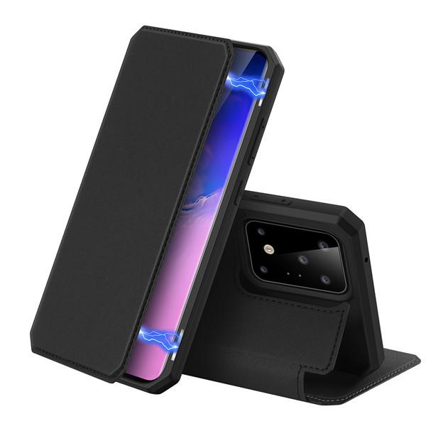 Foto Produk Case Samsung S20 Ultra  S20 Plus - Dux Ducis Premium Flip Case - Hitam, S20 Ultra dari Gojali