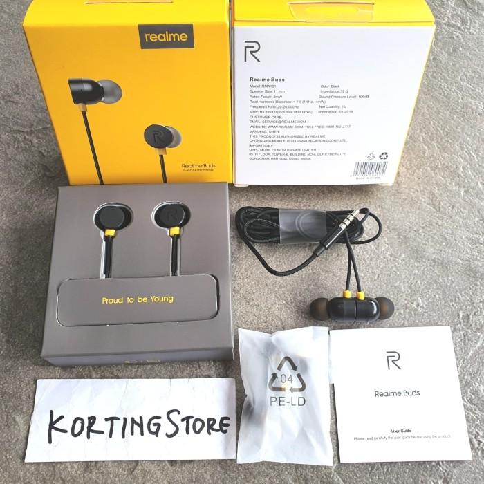 Foto Produk Headset Realme Buds In-Ear Earphone Handsfree Magnetic Original RMA101 dari KortingStore