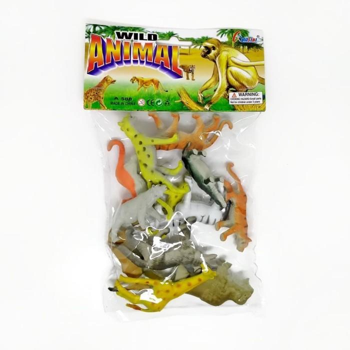 Foto Produk Set Miniatur Hewan Wild Animal Kecil isi 12 pcs - Random dari Grandia Shop