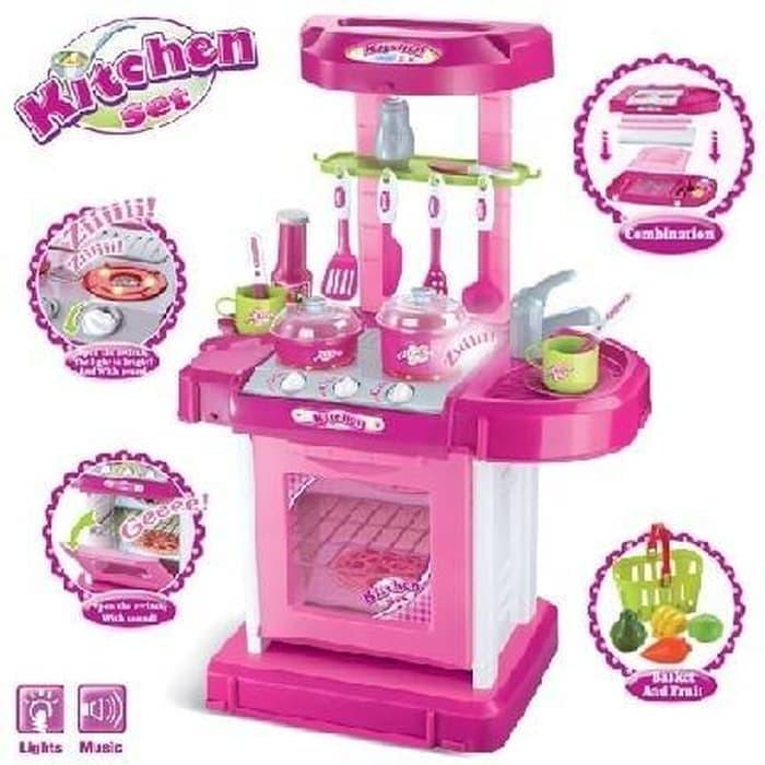 Jual Mainan Masak Masakan Masak2an Kitchen Set Pink Koper Anak Perempuan Jakarta Barat Play Kids Tokopedia