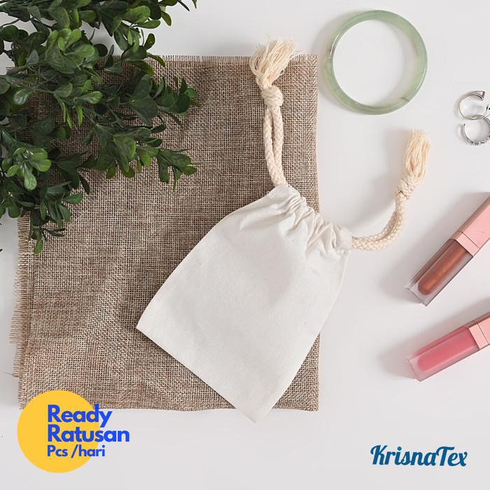 Foto Produk Pouch Serut Blacu Kecil ( Kantung String Bag Perhiasan / Make Up ) dari KrisnaTex