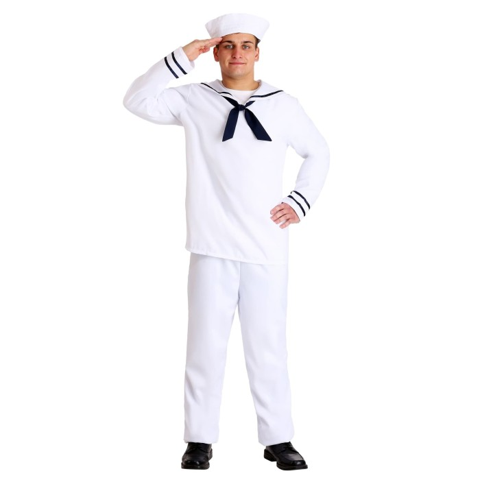 Foto Produk Kostum pelaut popeye sailor captain dengan topi cosplay halloween dari Susan Shop