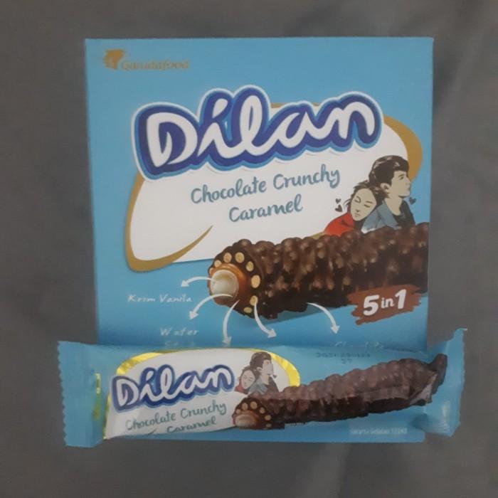 Jual Garuda Food Dilan Chocolate Crunchy Caramel Wafer Roll