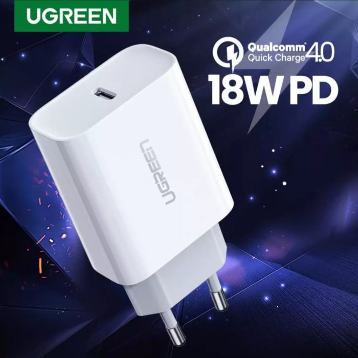 Foto Produk Ugreen 18W PD Fast Charger QC 4.0 3.0 for iPhone Samsung Xiaomi Huawei dari Perlu Ada