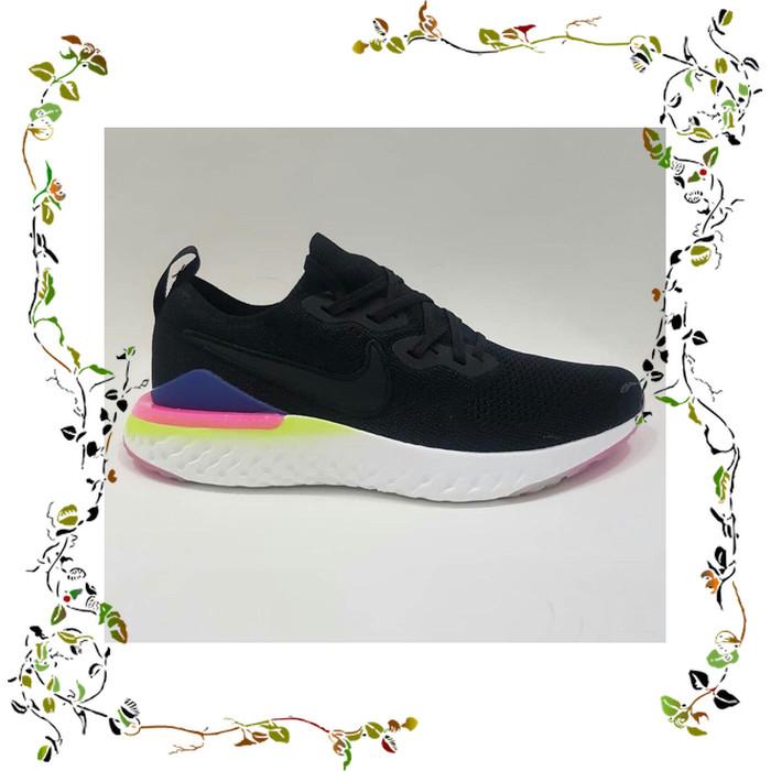 Foto Produk Nike Epic React 2 Black Blue Pink Made in Vietnam Premium Quality dari Qaylastore