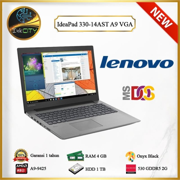 Jual Gaming Laptop Lenovo Ideapad 330 14ast Amd A9 9425 New Blue Kota Surabaya Inkcity Tokopedia