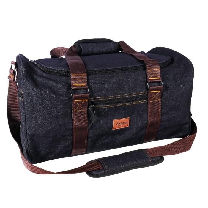 Foto Produk Lomberg Denim Duffel Blaxx - Tas Travel dan Fitness - Black dari Lomberg Bags