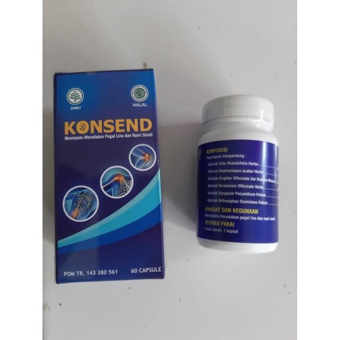 Foto Produk KONSEND ~ obat asam urat dan nyeri sendi konsend herbal BPOM asli dari griyalina