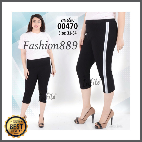Jual Celana Legging 7 Per 8 Jumbo Fashion Wanita Premium High Quality Zara Jakarta Barat Enricosh0p Tokopedia