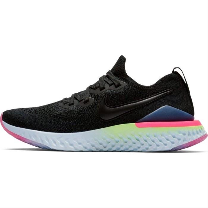 Foto Produk Nike Epic React Flyknit 2 Premium BNIB Black Pink Sneakers Pria w dari Imelda Pitaloka