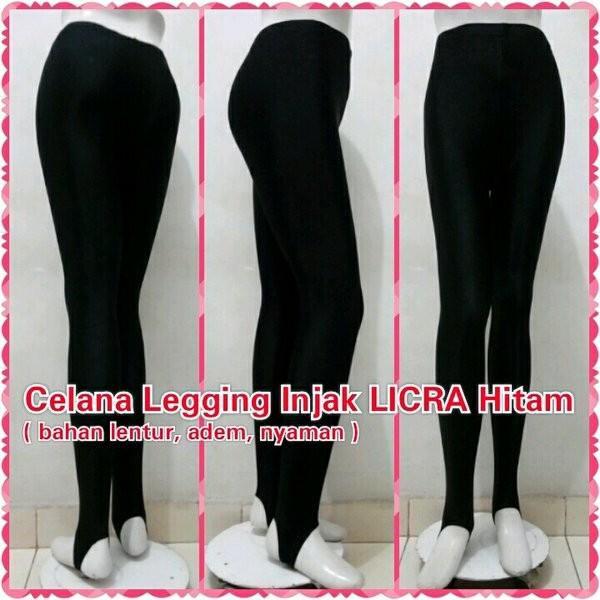 Jual Celana Legging Injak Licra Hitam Leging Hijab Sport Spandex Panjang Jakarta Utara Luhur Galery Tokopedia