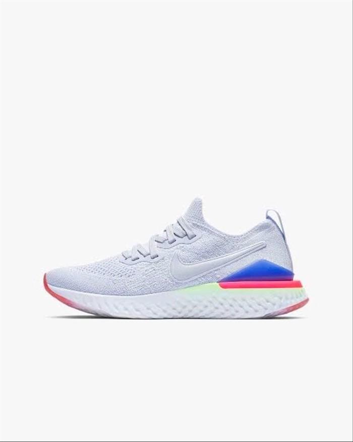 Foto Produk Nike Epic React Flyknit 2 Premium BNIB White Pink Sneakers Pria w dari Imelda Pitaloka