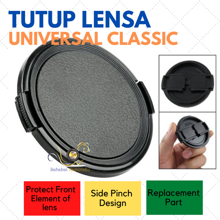 Foto Produk Front Lens Cap / Tutup Lensa Universal Model Klasik ukuran 55 mm dari Danbo shop