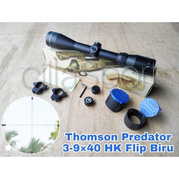 Foto Produk Telescope Thomson Predator 3-9X40 HK Flip Biru dari cillaSport