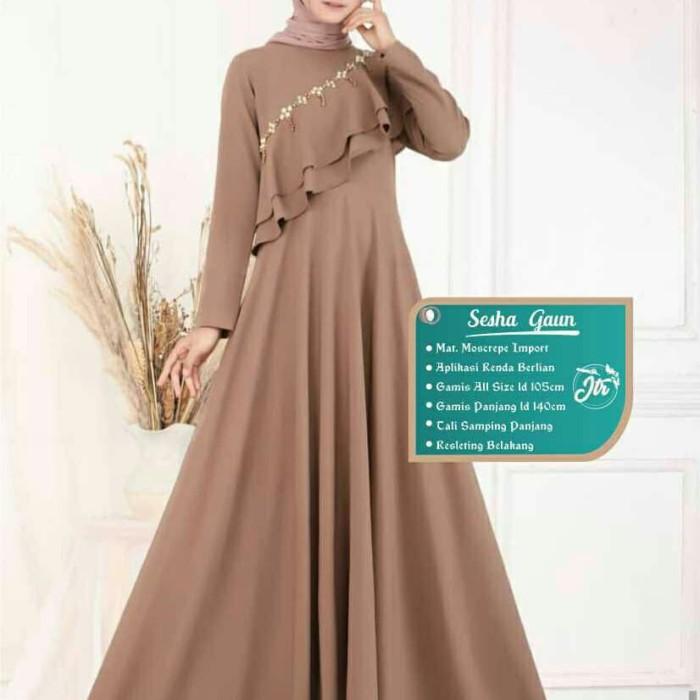 Jual Baju Gamis Sesha Gaun Modern Seragam Gamis Baju Muslim Wanita Terbaru Kota Pekalongan Fn Olshop88 Tokopedia