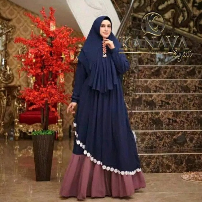 Jual Terpopuler Baju Gamis Syari Wanita Muslim Terbaru Kanaya Busana Jakarta Barat Mukmin2 Tokopedia