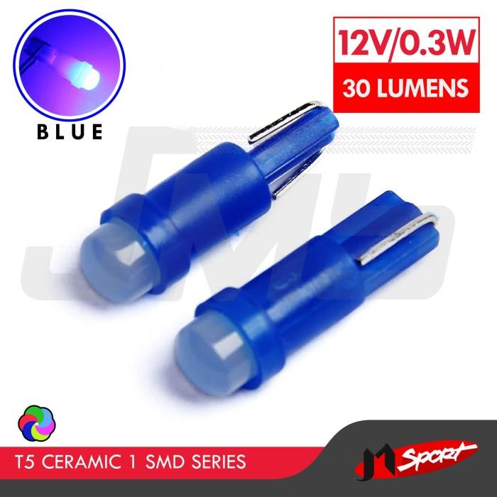 Foto Produk Lampu LED Mobil / Motor / Speedometer T5 Ceramic 1 SMD - Blue dari Jaya Motorsport