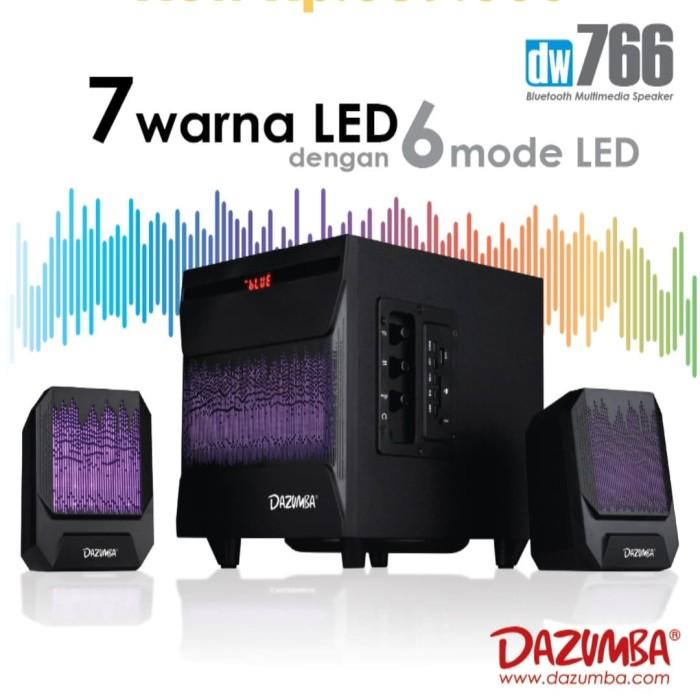 Foto Produk Speaker Aktif LED Dazumba DW766 - Bluetooth, USB, SD, Aux In dari DRoyal Shop Pusat