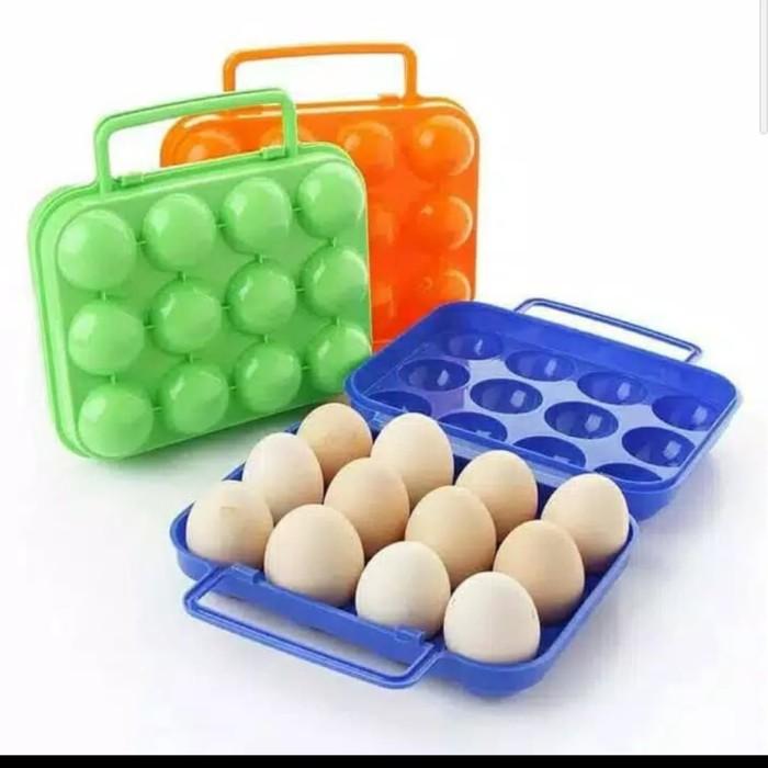 Foto Produk egg storage place. pelindung telur isi 12 camping Outdor dari pro_online