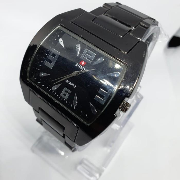Foto Produk Jam tangan pria rantai Army Time persegi hitam pekat dari Ahokyahop