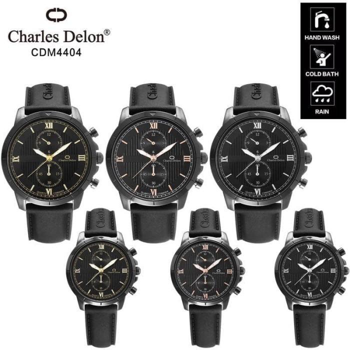 Foto Produk Jam tangan pasangan Charles Delon tali rubber dari Ahokyahop