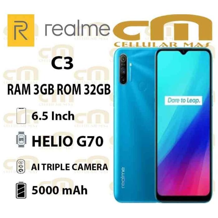 Foto Produk Realme C3 3/32 RAM 3GB ROM 32GB GARANSI RESMI REALME - Biru dari Cellular Mas