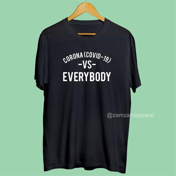 Jual Kaos Corona Vs Everybody Hitam M Kab Jember Zamzam Apparel Tokopedia
