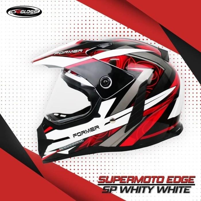 Foto Produk Cargloss Former Supermoto Helm Full Face - EDGE SP WHITY WHITE - L dari Helm Cargloss