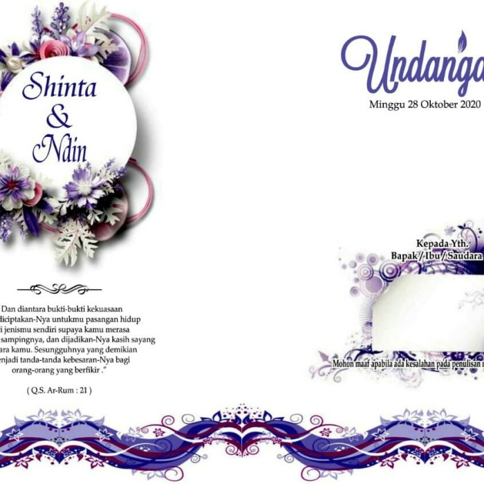 Jual Kartu Undangan Pernikahan Murah 0102 Jakarta Barat Sweet Undangan Tokopedia