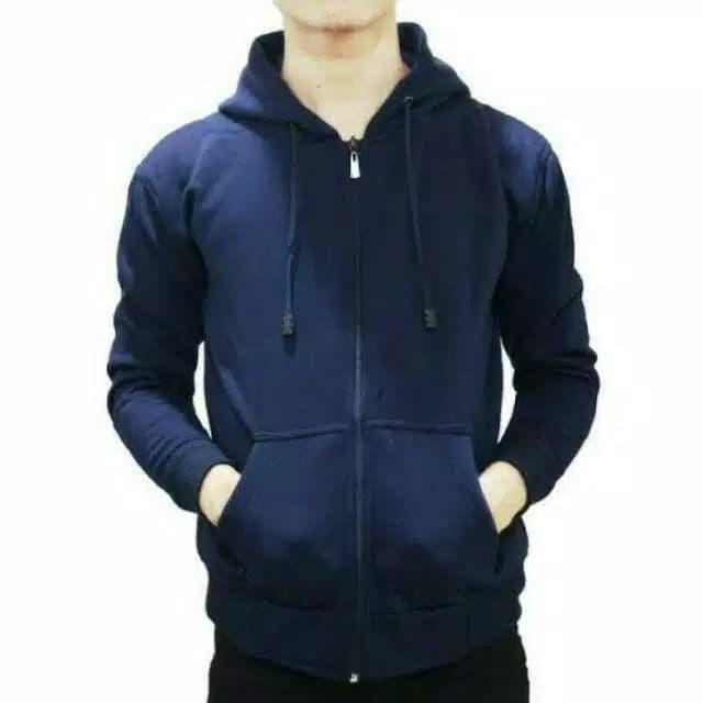 Foto Produk Jaket hoodie polos - Jaket Pria - Biru dari good choice 12